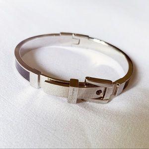 Michael Kors Buckle Bangle Silver/Black